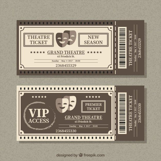 Theatre Ticket Template Theater Tickets Design And Print Your Own – Theatre Ticket Template