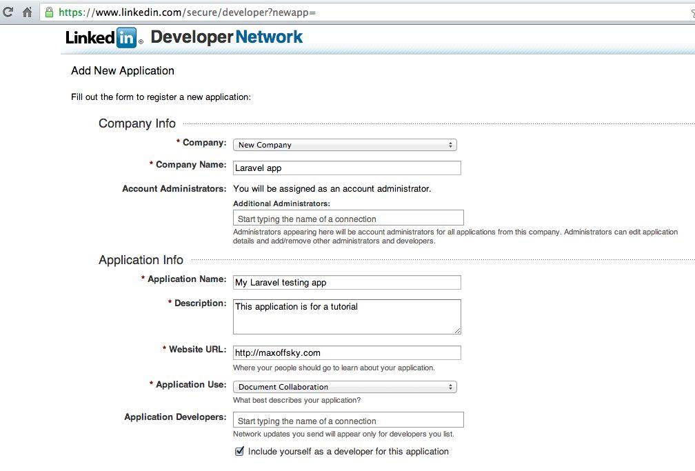 Laravel in Practice - pulling user data from LinkedIn - Maks ...