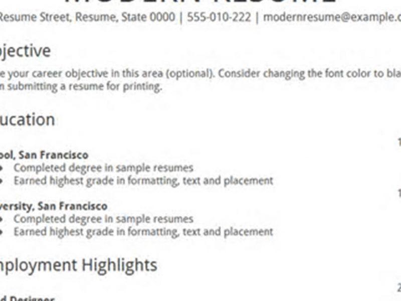 Download Google Docs Resume Templates | haadyaooverbayresort.com