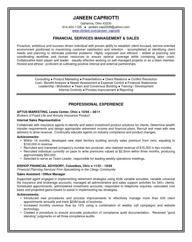 Personal Statement In Resume - Resume Sample
