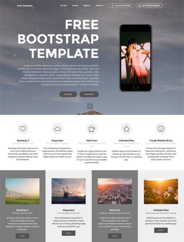 83+ Free Bootstrap Themes & Templates | Free & Premium Templates