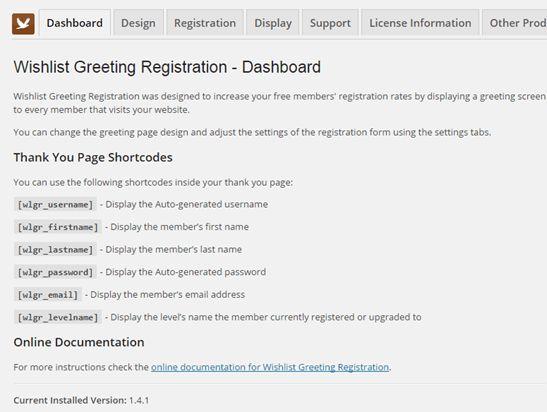 Wishlist Greeting Registration - Happy Plugins Store - Plugins ...