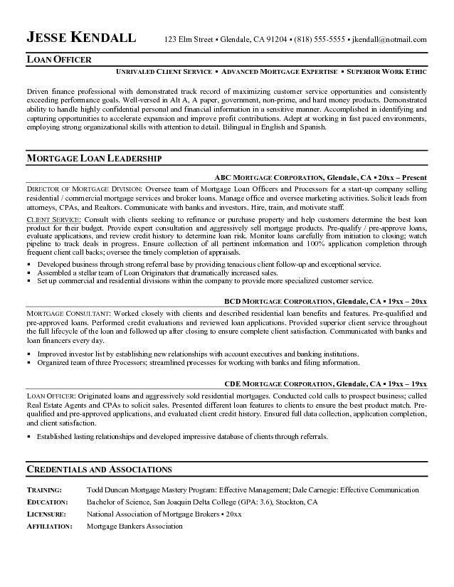 Commercial Loan Officer Resume Sample : Vinodomia