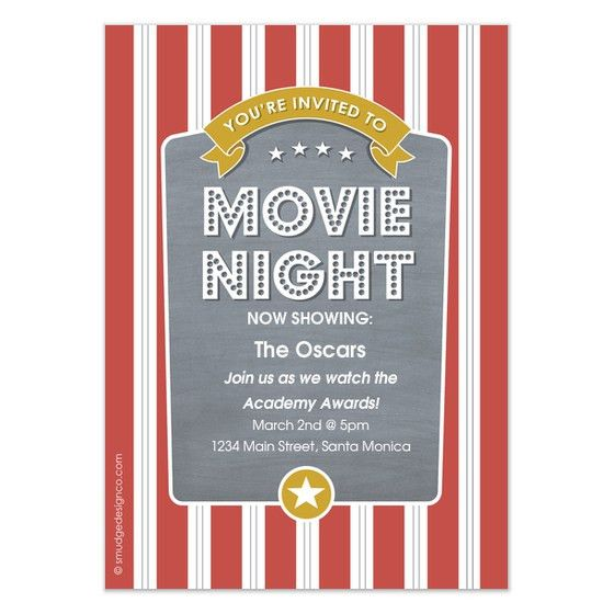 Movie Night Invitations - Pingg.com