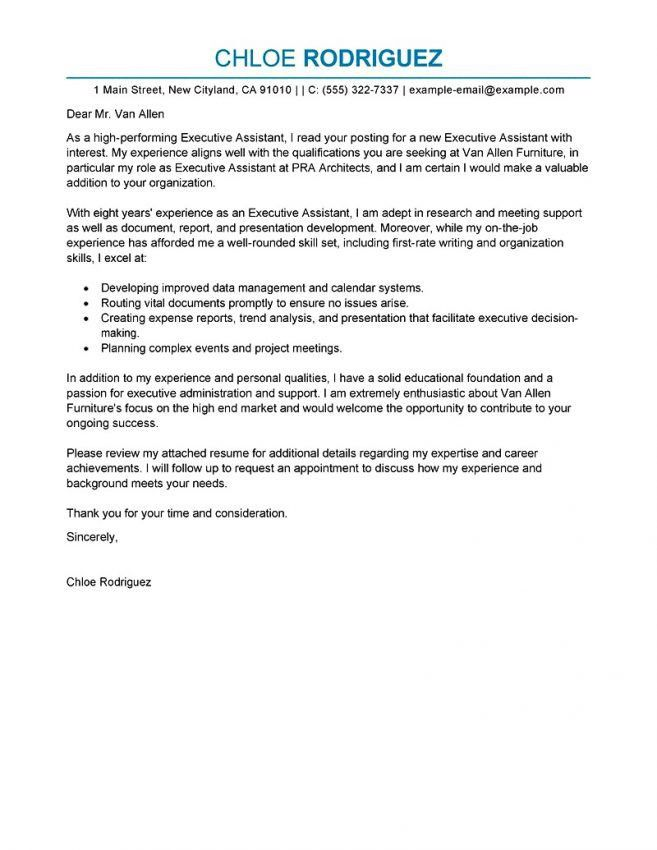14 Executive Assistant Cover Letters Cover Letter entry level ...