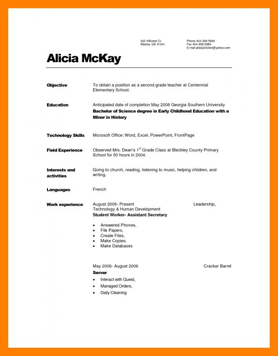 11+ sample daycare resume | resume sections
