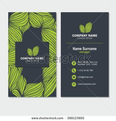 Green Tree Logo Set Consisting Emblem Stock Vector 617443832 ...