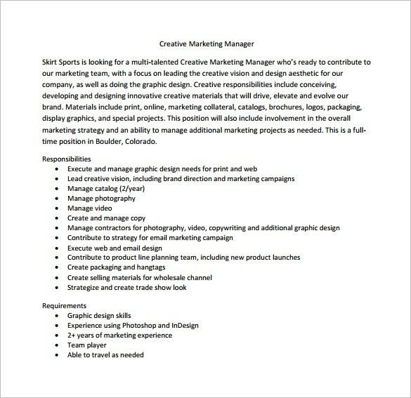 Marketing Director Job Description Template – 7+ Free Word, PDF ...