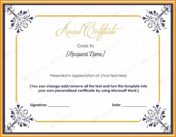 7+ awards certificate template word | paradochart