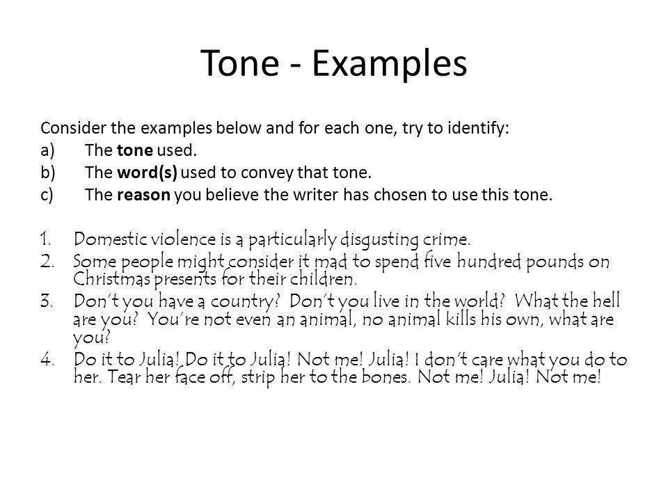 Example Of Tone – Printable Editable Blank