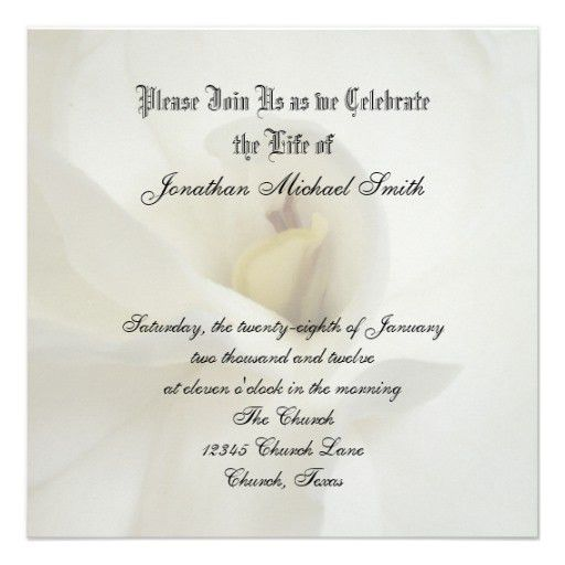 Personalized A celebration of life Invitations ...