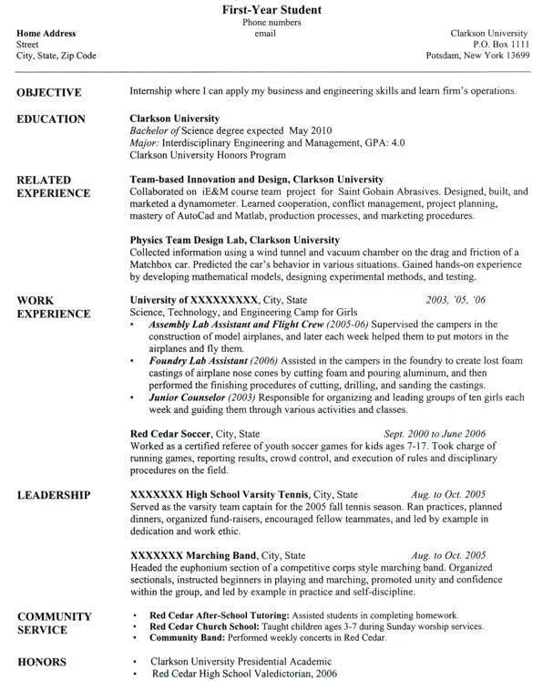 Resume Sample Graduate School Application - Templates