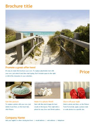 Travel brochure - Office Templates