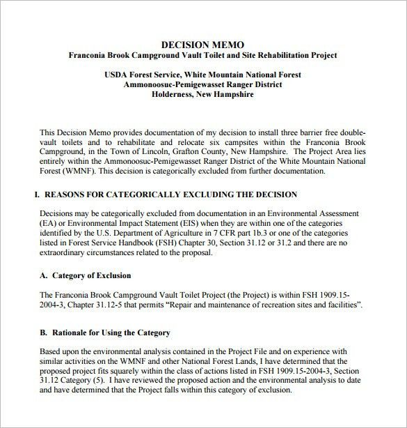 8+ Decision Memo Templates U2013 Free Word, PDF Documents Download .