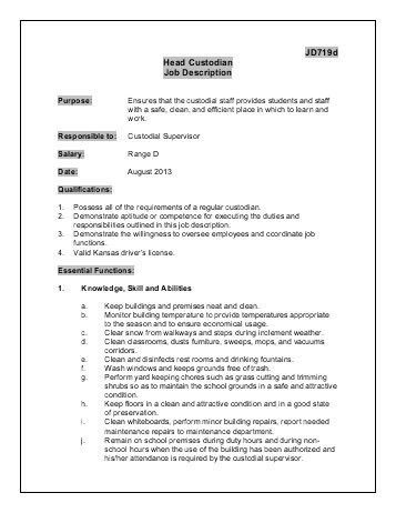 100+ [ Sample Janitor Resume ] | Resume Resume Cover Letter ...