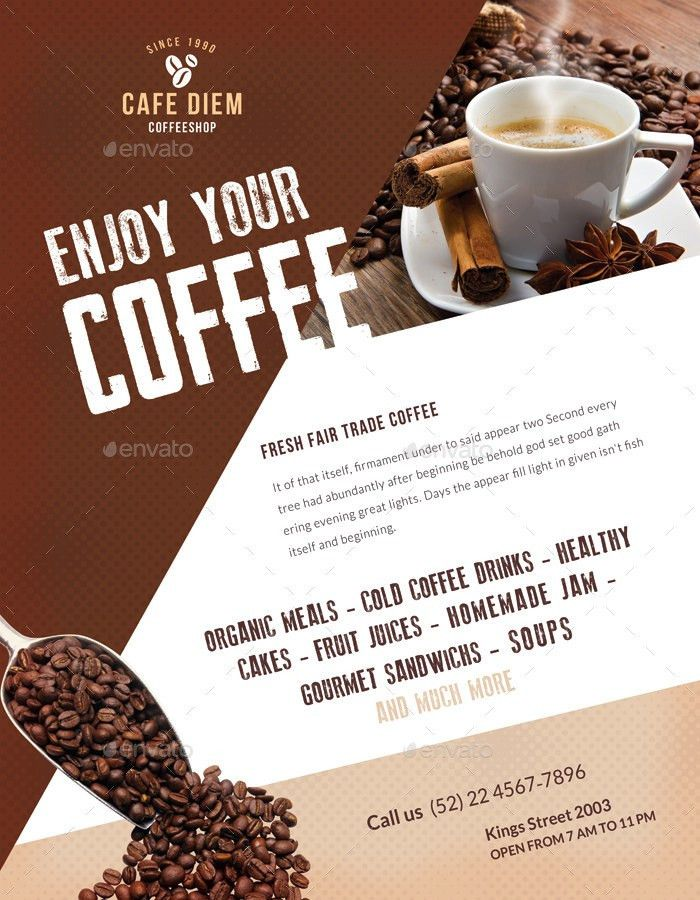 Premium Coffee Flyers / Magazine Ad by ingridk | GraphicRiver