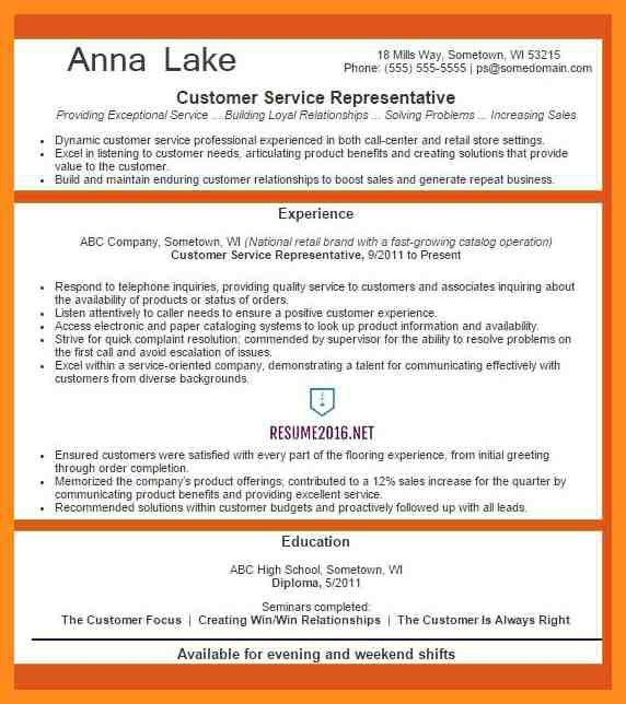Awesome Customer Service Resume Examples 2016 Contemporary - Best ...