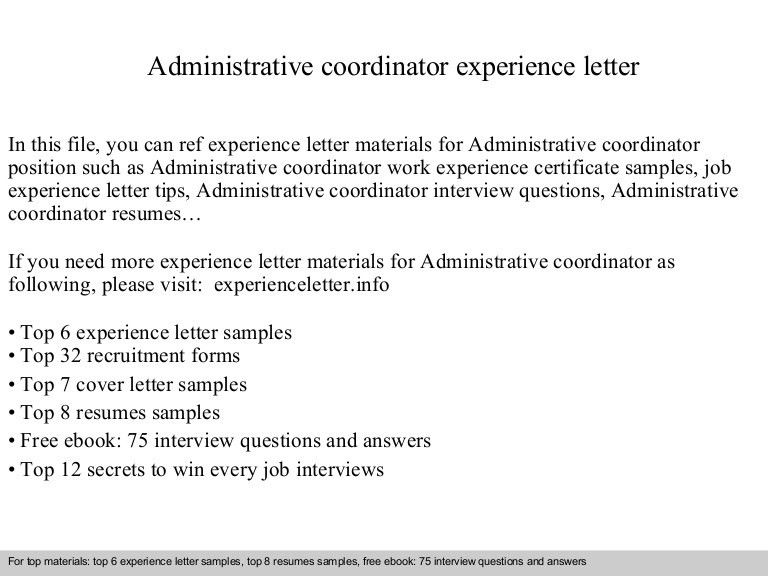 administrative coordinator application letter in this file you can ...