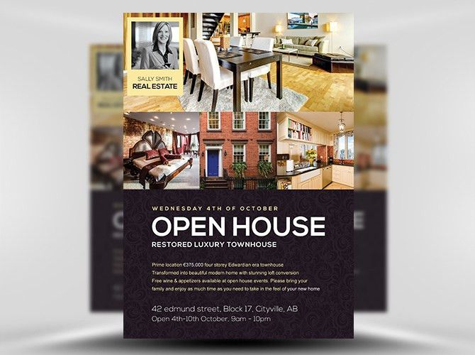 20 Nice Open House Flyer Templates
