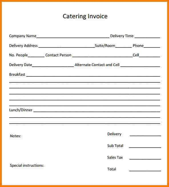 8+ Catering Invoice Software   Receipt Templates