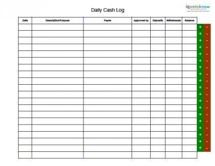 bank deposit record template