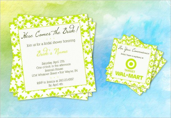 27+ Wedding Shower Invitation Templates | PSD Invitations | Free ...