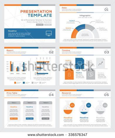 Set Color Infographic Elements Presentation Templates Stock Vector ...