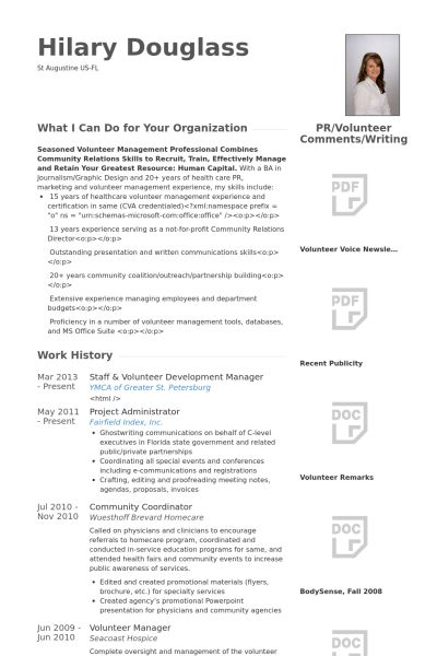 volunteer resume example delectable sample resume for experienced