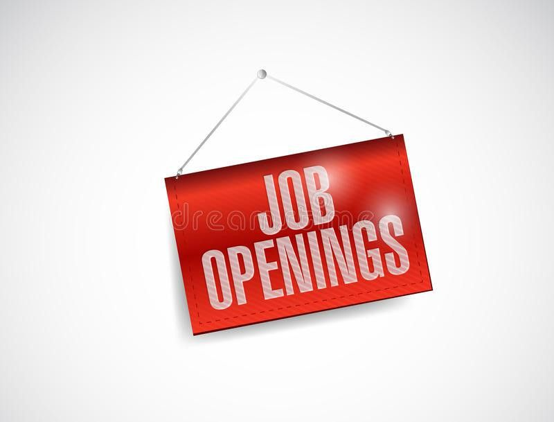 Job Openings Fabric Textured Hanging Banner Stock Photo - Image ...