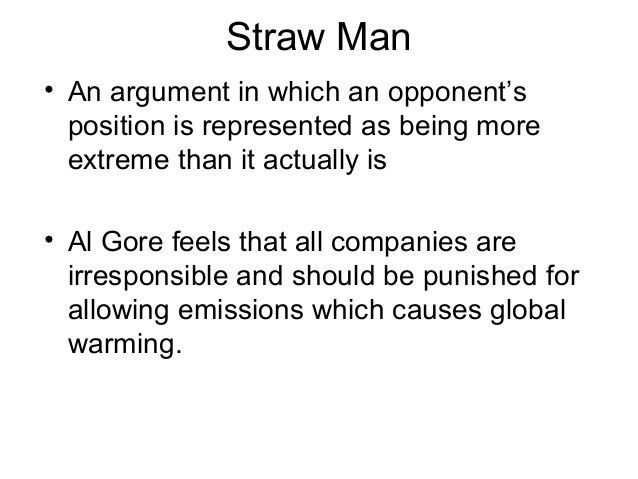 Straw Man Fallacy - Block 2 Logical Fallacies