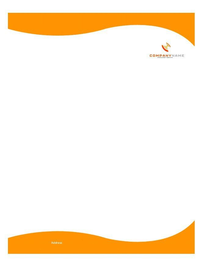 letterhead samples - Template