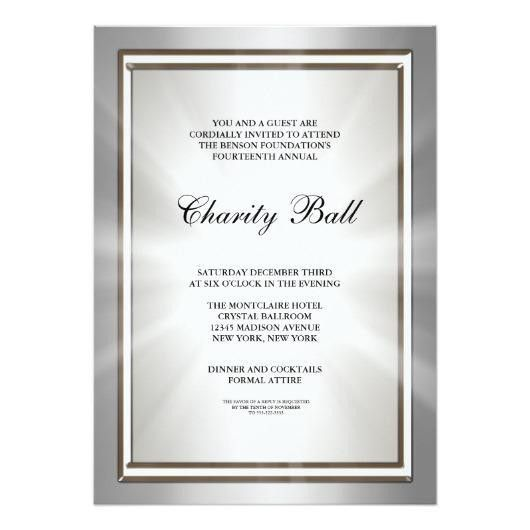 Silver Corporate Event Party Invitation Template – Invitations 4 U