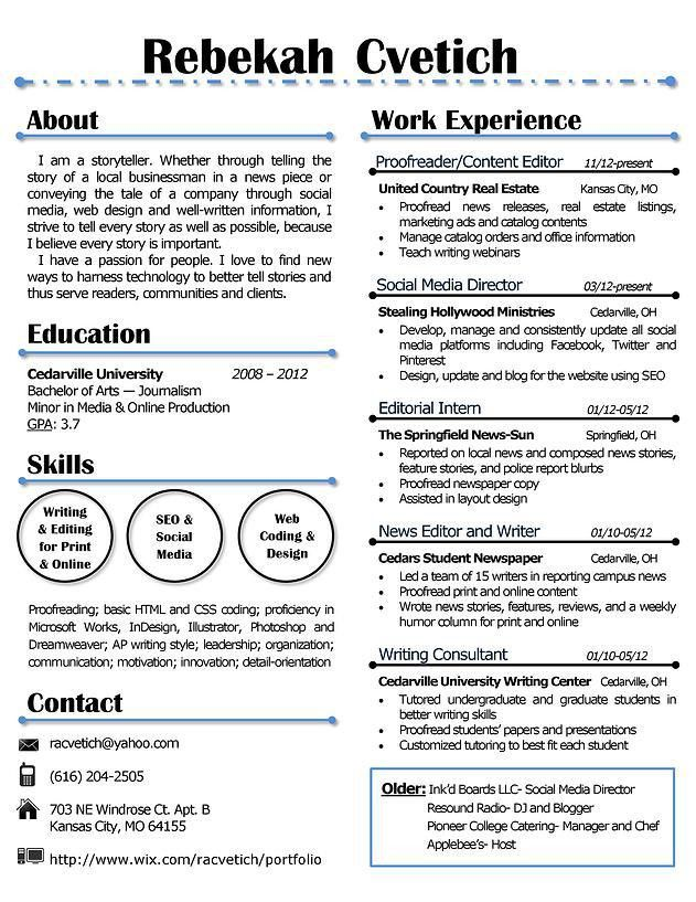 My resume design that is creative yet simple. Buy the template for ...