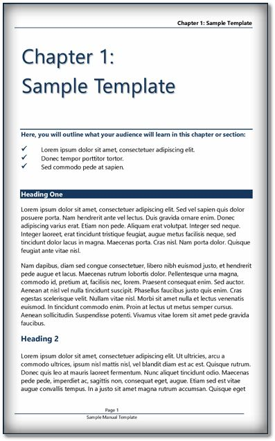 Book Template {MS Word & PDF} Format