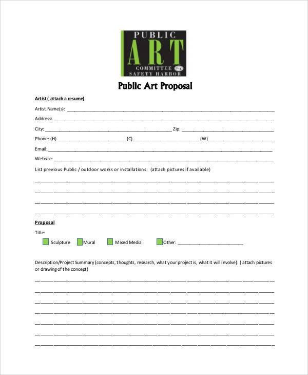 Art Proposal Templates - 6+ Free Word, PDF Format Download | Free ...