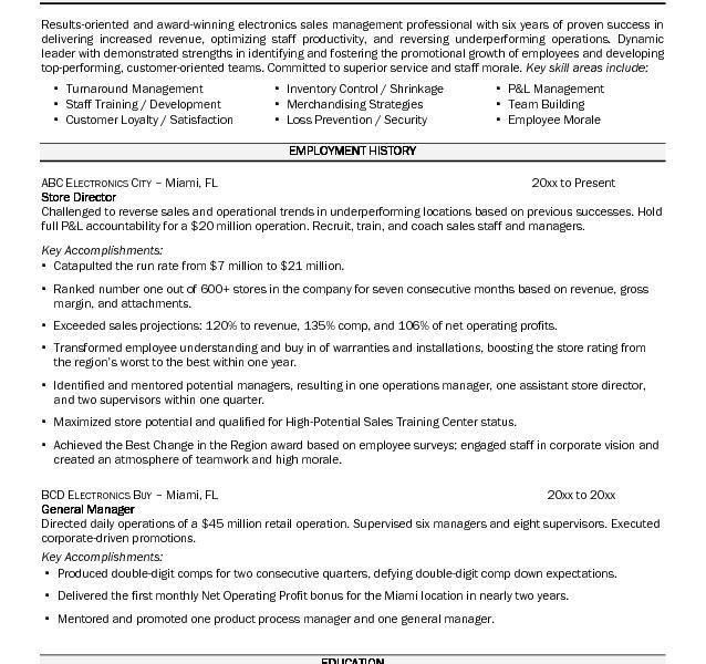 food store manager sample resume template for payroll sample of ...