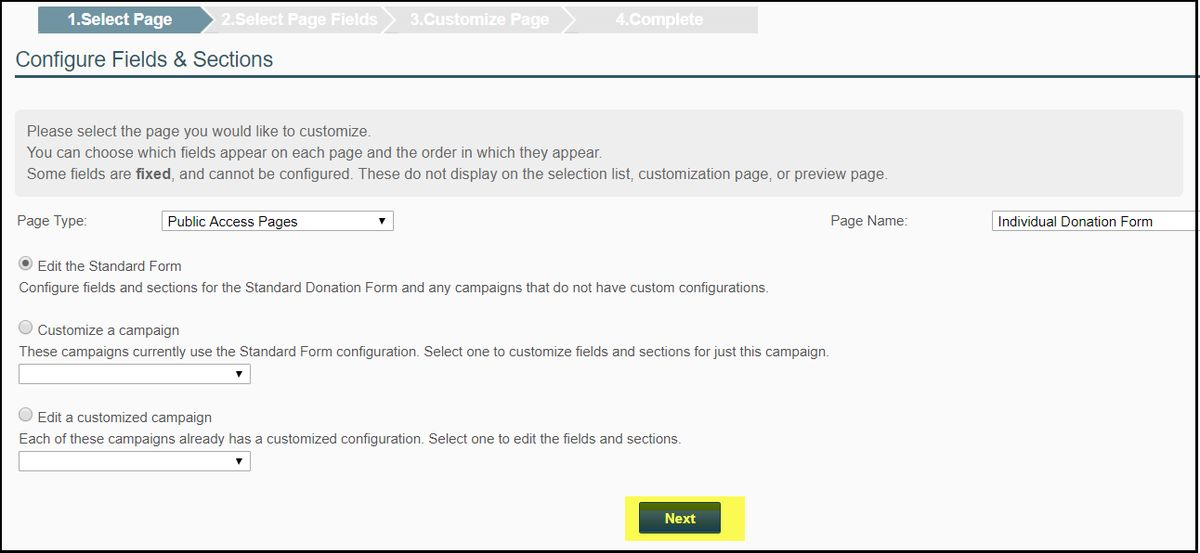 Fundraising System Settings – NeonCRM Support Center