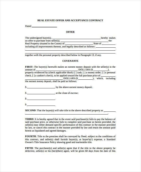Real Estate Form - 9+Free Sample, Example, Format | Free & Premium ...