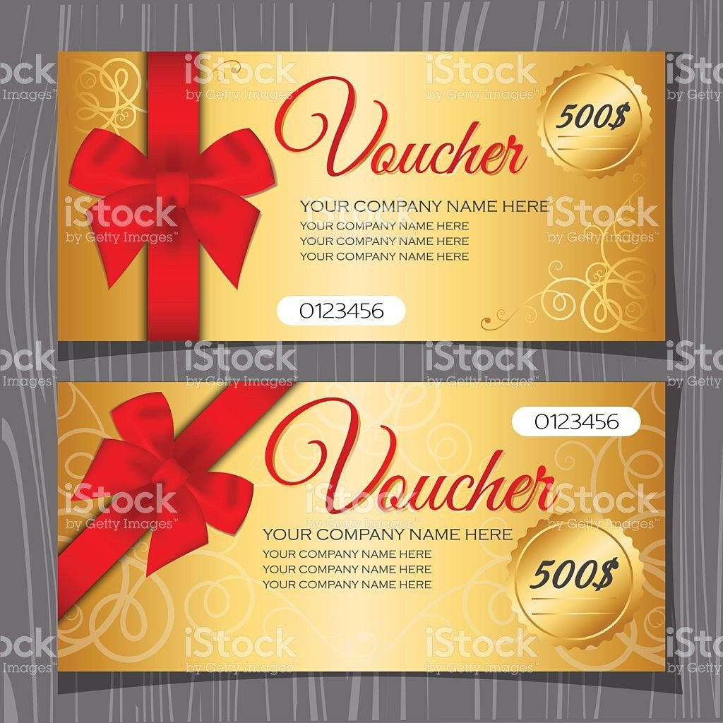 Voucher Template Gift Certificate Template stock vector art ...