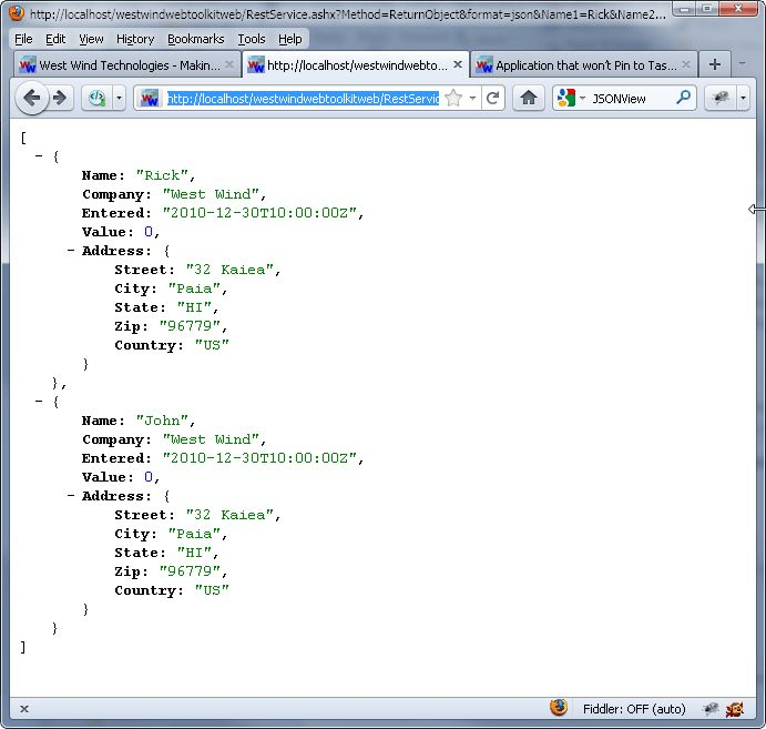 Displaying JSON in your Browser - Rick Strahl's Web Log