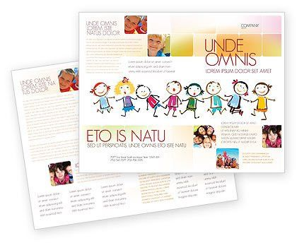 preschool flyers design | Funny Kids Brochure Template #07045 ...