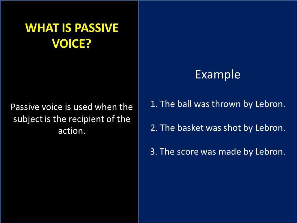 ACTIVE AND PASSIVE VOICE SUBJECT VERB AGREEMENT VAGUE PRONOUNS ...