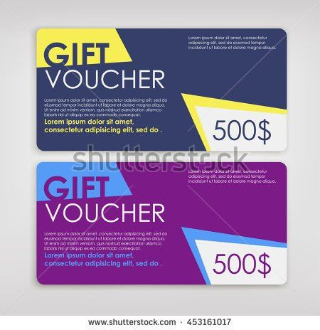 Discount Voucher Market Design Template Colorful Stock Vector ...