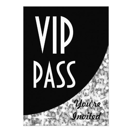 vip pass template free