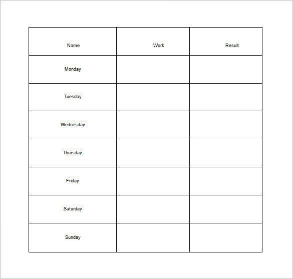 Weekly Chore Chart Template - 31+ Free Word, Excel, PDF Format ...