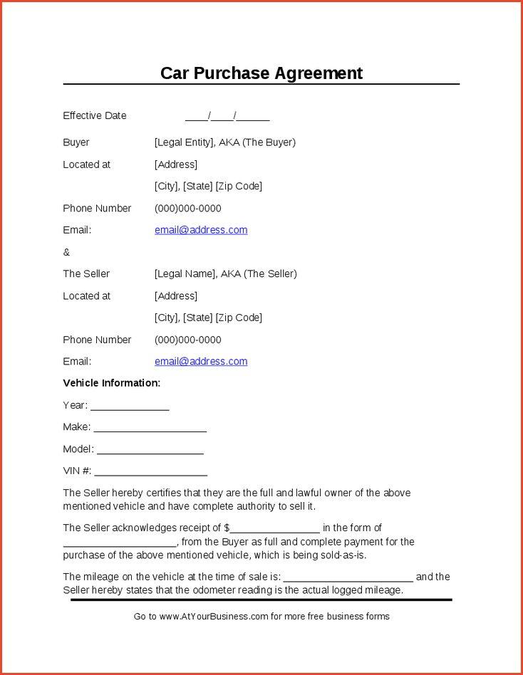 BUYER'S AGREEMENT FORM | Proposalsheet.com