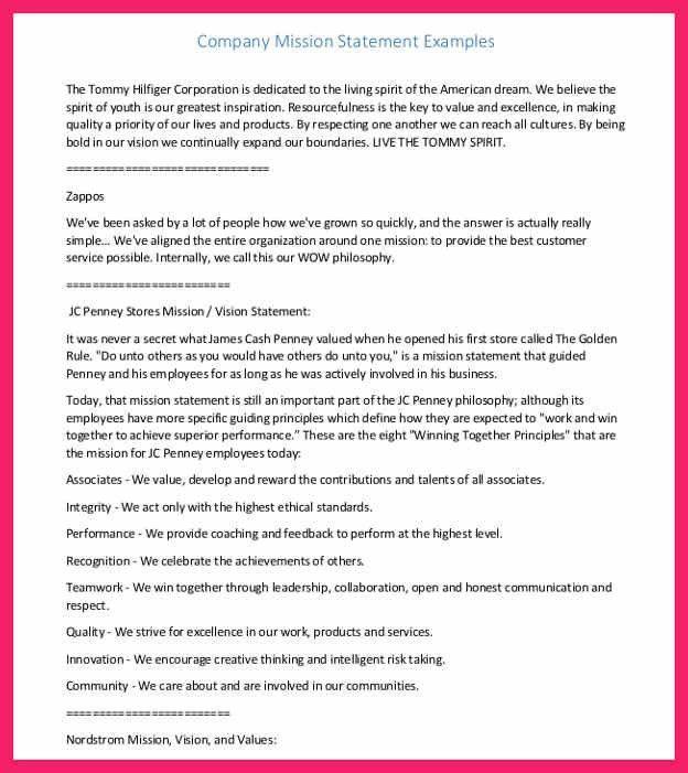 mission statement template | bio letter format