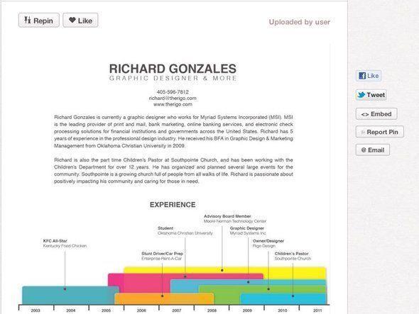 Best 25+ Cool resumes ideas on Pinterest | Curriculum vitae ...