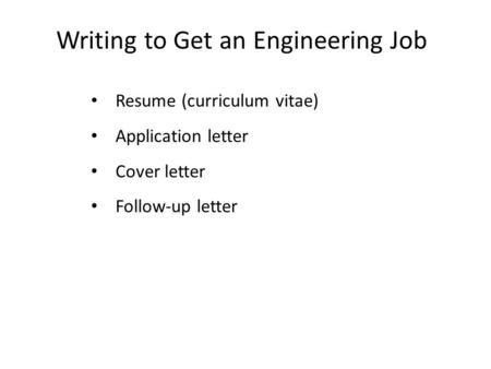 Resumes & Cover Letters - ppt download