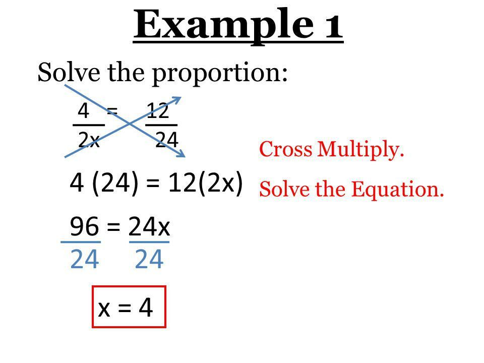 3-6 Solve Proportions Using Cross Products - ppt download